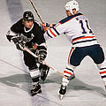 Wayne Gretzky & Mark Messier Battle It by B Bennett