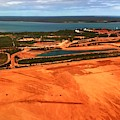 Weipa Bauxite Mine From The Air by Joan Stratton