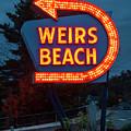 Weirs Beach Neon Sign - Laconia, Nh by Joann Vitali