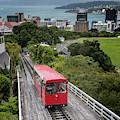 Wellington New Zealand Cable Car by Joan Carroll