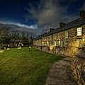 Welsh Cottages Twilight by Adrian Evans