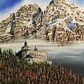 Werfen Austria Castle In The Clouds by Art By Three Sarah Rebekah Rachel White