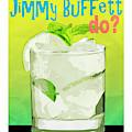 What Would Jimmy Buffett Do White Background by Edward Fielding