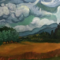 Wheat Field With Cypresses by Linda Anderson after Van Gogh