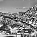 Wheeler Junction Overlook Black And White by Adam Jewell