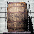 Whiskey Barrel On A Shelf by Bill Swartwout Photography