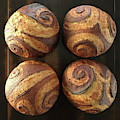 White And Rye Sourdough Spiral Set 3 by Amy E Fraser