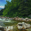 White Mountains New Hampshire - Rocky Gorge by Joann Vitali