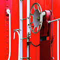 White On Red Railroad Caboose by Paul W Faust - Impressions of Light