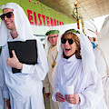 White Robed Bards At The Welsh National Eisteddfod by Keith Morris