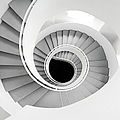 White Spiral Stairs by Roc Canals Photography
