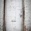 White Steel Factory Door Chinatown Washington Dc by Edward Fielding