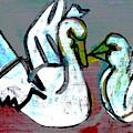 White Swans by Artist Dot