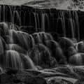 Whitnall Park Cascades Bw by Dale Kauzlaric