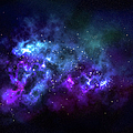 Wide Shot Of A Nebula In Outer Space by Chemc