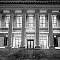 Widener Library Harvard Yard Harvard Square Cambridge Ma Black And White by Toby McGuire