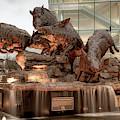 Wild Band Of Razorbacks Monument Fountain - Fayetteville Arkansas by Gregory Ballos