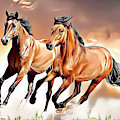 Wild Horses by Russ Carts