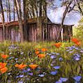 Wildflowers In The Country Painting by Debra and Dave Vanderlaan