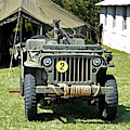Willys Jeep With Machine Gun At Fort Miles by Bill Swartwout Fine Art Photography