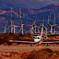 Wind Energy Learjet  by Blake Richards