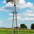 Windmill And Pump by Edward Peterson