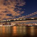 Windy Evening Under The Manhattan Bridge  by Harriet Feagin