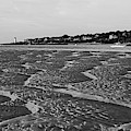 Wingaersheek Beach Sand Patterns Gloucester Ma Annisquam Lighthouse Black And White by Toby McGuire