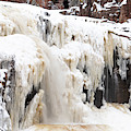 Winter At Gooseberry Lower Falls by Susan Rissi Tregoning