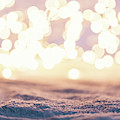 Winter Background With Snow And Fairy Lights. by Michal Bednarek