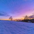 Winter Hill At Sunset by Jonathan Hansen