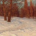 Winter Landscape At Dusk by Ivan Fedorovich Choultse