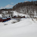 Winter Still Holds On At The Jenne Farm by Jeff Folger