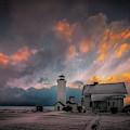 Winter Sunset At Tibbett's Point by Roger Monahan