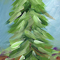 Winter Tree- Expressionist Art By Linda Woods by Linda Woods