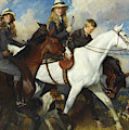 With The York And Ainsty, The Children Of Mr Edward Lycett Green by Charles Wellington Furse