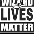 Wizard Lives Matter Retro Halloween Sorcerer Dark by Nikita Goel