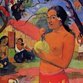 Woman Holding A Fruit 1893 by Gauguin Paul