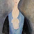 Woman In Blue by Amedeo Modigliani