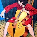 Woman Playing Cello - Bereny Robert Study by Sylvia Tass