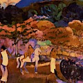 Women And White Horse 1903 by Gauguin Paul