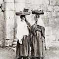 Women From Siloan In Jerusalem by Munir Alawi
