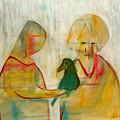 Women Holding A Bird by Artist Dot
