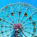 Wonder Wheel Coney Island Ny by Edward Fielding