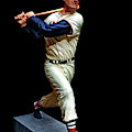Wood Carving - Ted Williams 001 Black Background by George Bostian