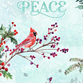 Woodland Holiday Peace Art by Anita Pollak