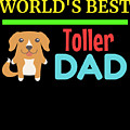 Worlds Best Toller Dad by DogBoo