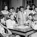 Wwii, Mary Mcleod Bethune At Phyllis by Science Source