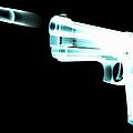 X-ray Of Gun Firing Bullet Digital by Gary Cornhouse