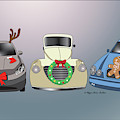 Xmas Cars by Megan Dirsa-DuBois